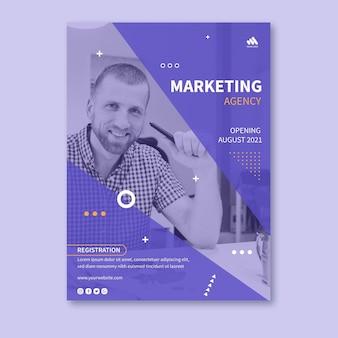 Marketingowy plakat biznesowy