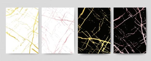Marmur z złotym tekstury tłem