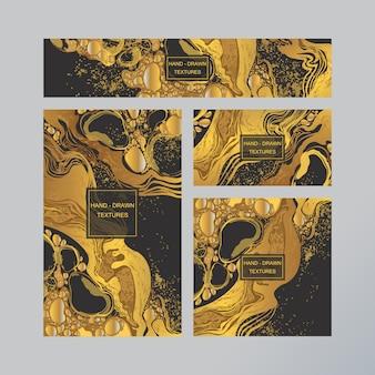 Marmurowa abstrakcjonistyczna wizytówka