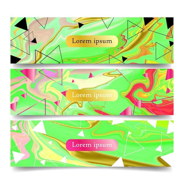 Marmurowa broszura i transparent
