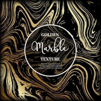 Marmurowa złota i czarna tekstura