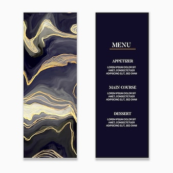 Marmurowe menu weselne