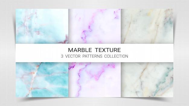 Marmurowy zestaw szablonów wzorców kolekcji.