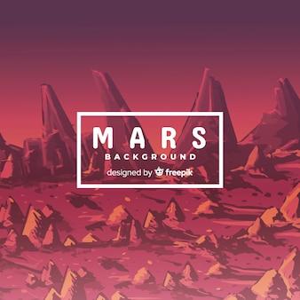 Mars krajobrazu tła