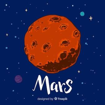 Mars ręcznie malowane tła