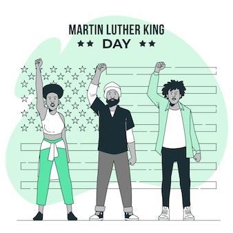 Martin luther king day ilustracja koncepcja