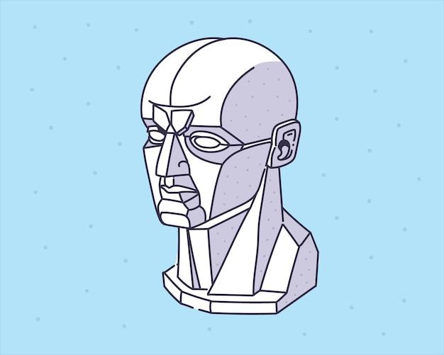 Martwa natura statua ręcznie rysowane ilustracji