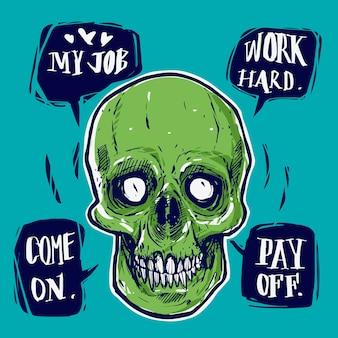 Martwe biznesmen mowy ciężko pracować zapłać.