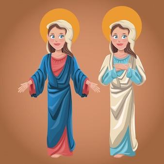 Maryja dziewica duchowy obraz