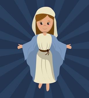 Maryja dziewica święty religijny wizerunek
