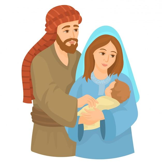 Maryja i józef z młodym jezusem