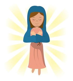 Maryja panna pobłogosławił obraz modlitewny