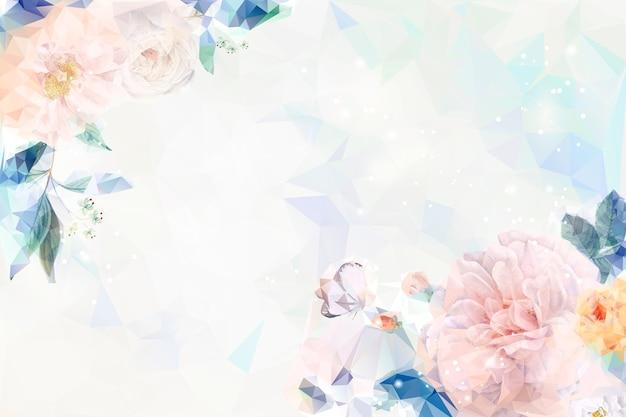 Marzycielski tło kwiatowy
