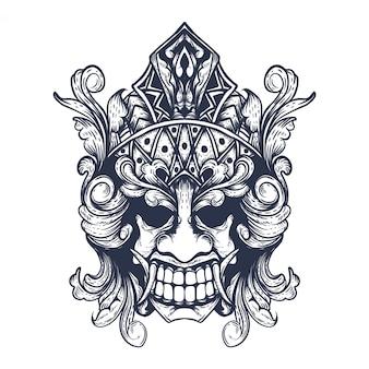 Maska balijskiego diabła