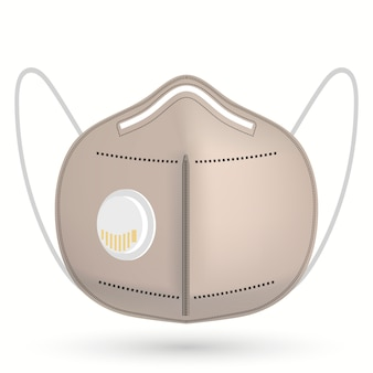 Maska chirurgiczna respiratora medycznego. ochrona twarzy ochrona, ochrona przed infekcjami dróg oddechowych.