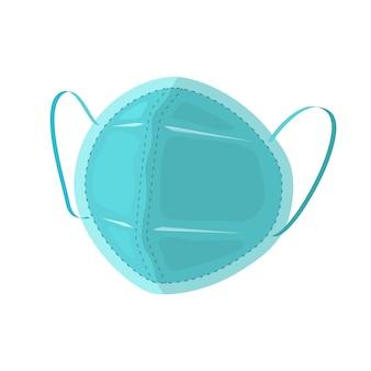 Maska chirurgiczna z gumowymi paskami na uszy, płaska