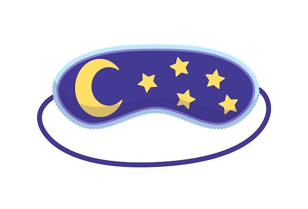 Maska do spania. akcesorium do ochrony oczu i profilaktyka zdrowego snu. symbol opaski na oczy w stylu cartoon. projekt odzieży relaksacyjnej na noc.