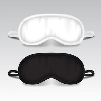 Maska do spania na oczy. ilustracja wektorowa makiety.