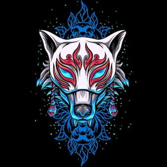 Maska fox kitsune