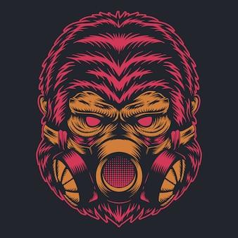 Maska gazowa goryla