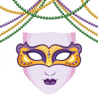 Maska i koraliki