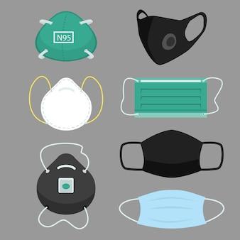 Maska medyczna, alergia na urządzenia ochronne dla szpitala maski medyczne zapobiegające smogowi i wirusom