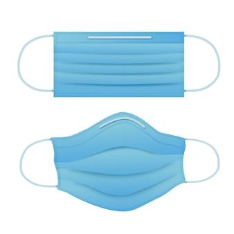 Maska medyczna w płaskiej konstrukcji