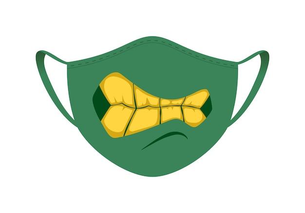 Maska medyczna z zabawnym wzorem
