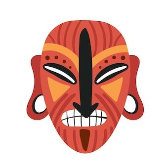 Maska plemienna idol plemię aborygenów kultura etniczna aztecka maska na głowie starożytna maska na twarz