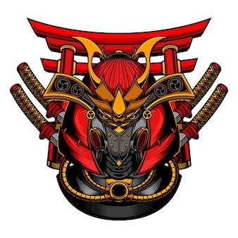 Maska robota samuraja