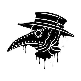Maska steampunk plague doctor z dziobem