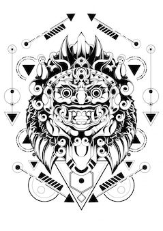 Maska świętej balijskiej świętej geometrii