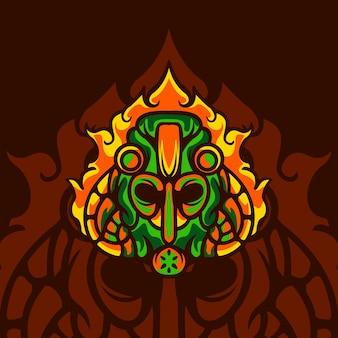 Maska toksycznego ognia dla maskotki do gier