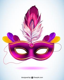 Maska wektorowa na karnawał