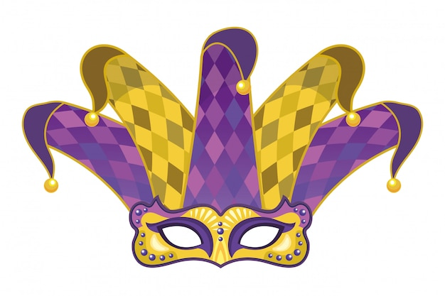 Maska z kapeluszem błazna