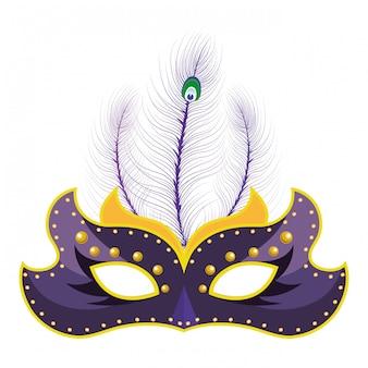 Maska z piórami