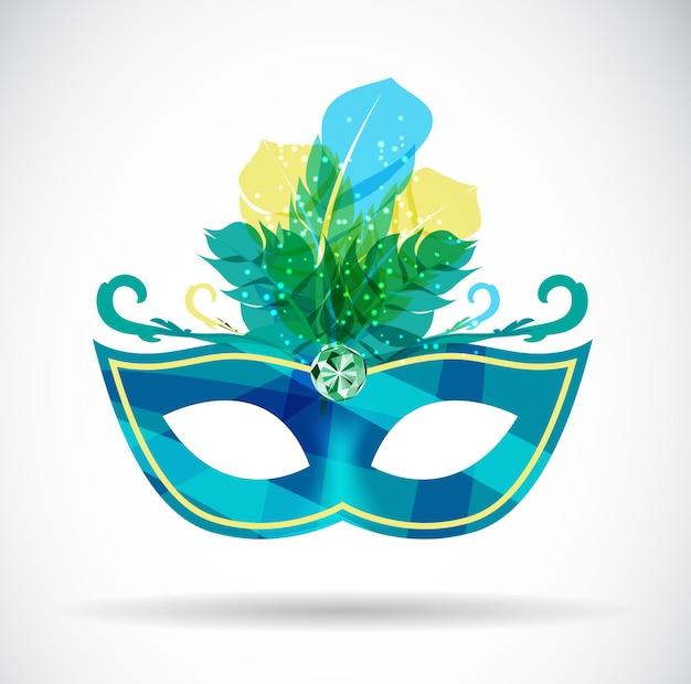 Maskarada maska karnawałowa ikona ilustracja wektorowa