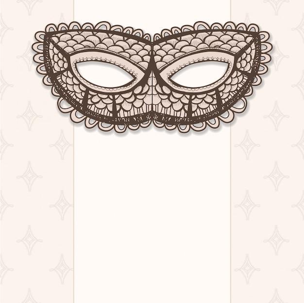 Maskaradowa maska na beżowym tle