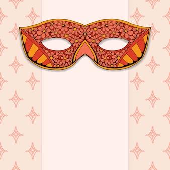 Maskaradowa maska na różanym tle
