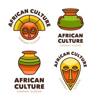 Maski i przedmioty logo afryki