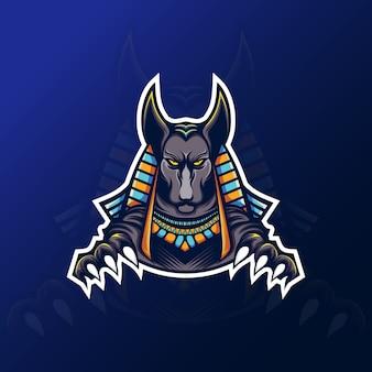 Maskotka anubis do logo gier esportowych