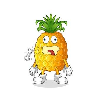 Maskotka beknięcie ananasa