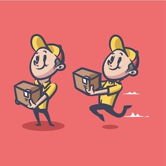 Maskotka deliveryman