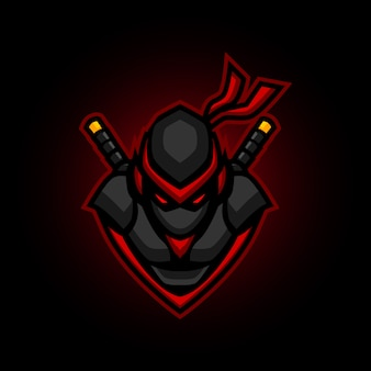 Maskotka do gier z logo ninja e sports