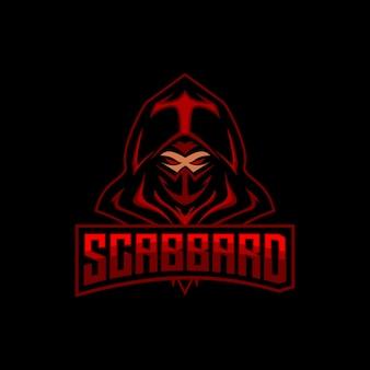 Maskotka do gier z logo ninja esports