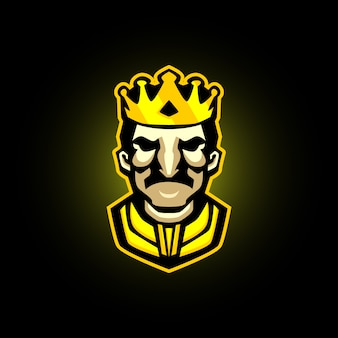 Maskotka do gry king e-sports logo