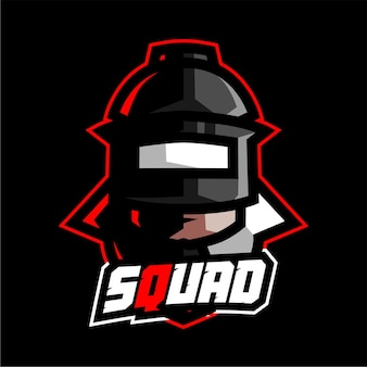 Maskotka drużyny żołnierza dla zespołu logo e-sport