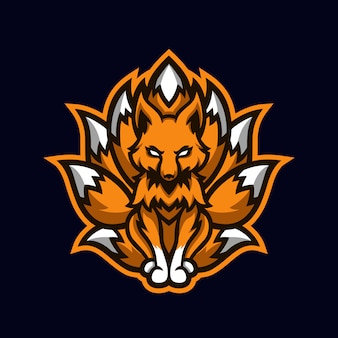 Maskotka esport ninetails orange fox