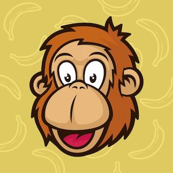 Maskotka głowa małpy