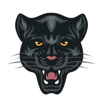 Maskotka głowy czarnej pantery